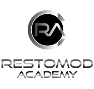 this is the logo for restomod academy