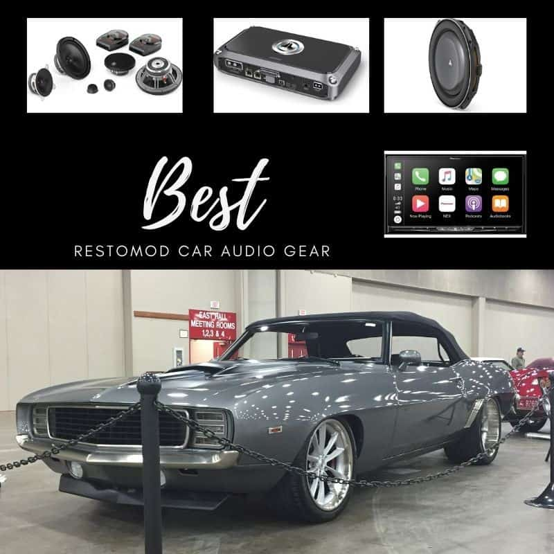 This picture contains the best restomod recommended car audio gear