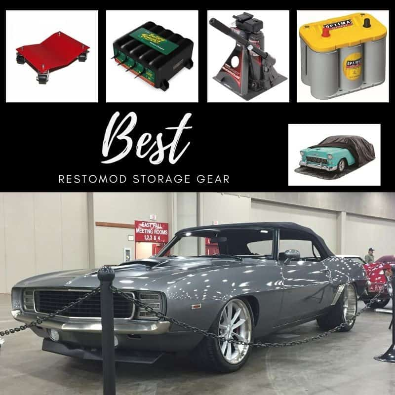 This picture contains the best restomod recommended winter storage gear